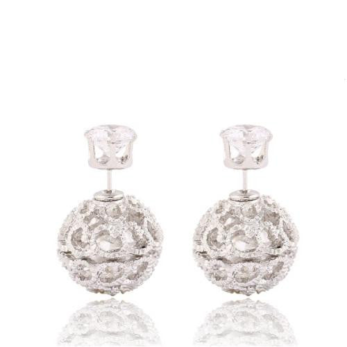18K White-Gold plated Esme Earrings-Romatco