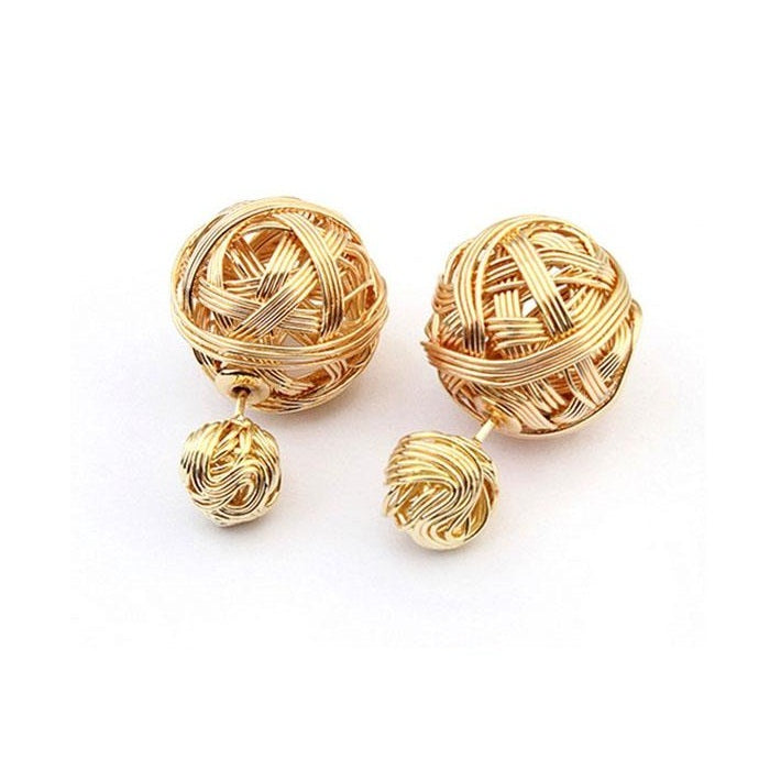 22K Gold plated Victoria Metal Earrings Earrings romatco.myshopify.com