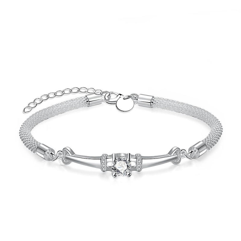 18K White-Gold plated Candice Bracelet-Romatco