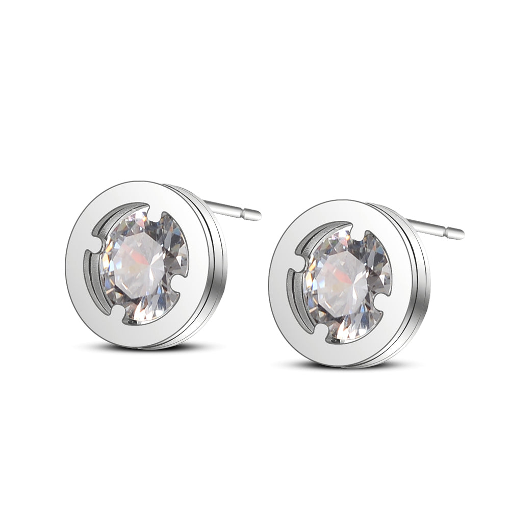 Marley Round Stud Earrings - Romatco Jewelry