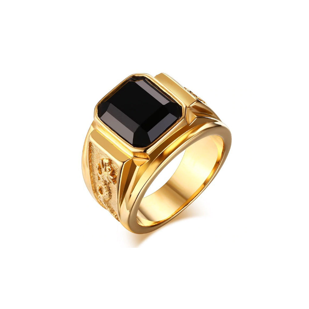 Mens Signet Dragon Ring - Romatco Jewelry