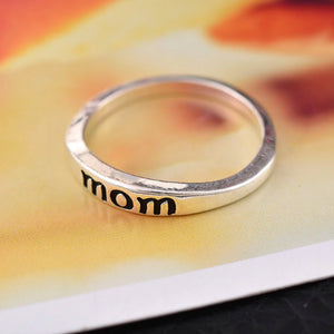 18K White-Gold Plated Mom & Dad Elegant Ring-Romatco