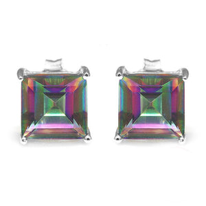 Mystic Topaz Princess-Cut Earrings Earrings romatco.myshopify.com