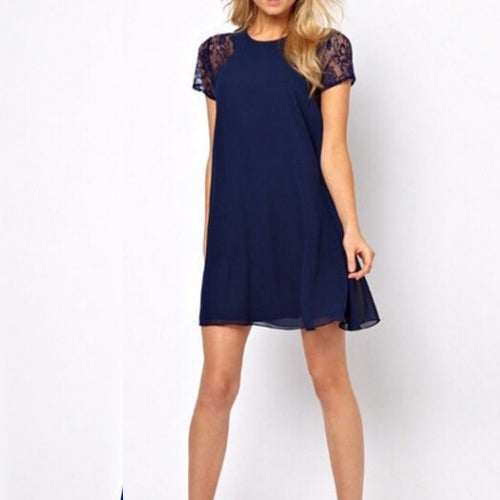 Nicki dress-Navy - Romatco Jewelry