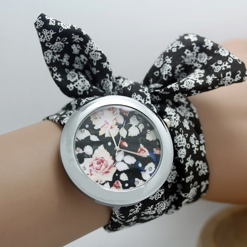 Floral Dress Watch Watch romatco.myshopify.com