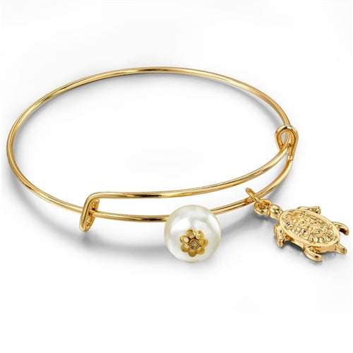 22K Gold plated Ocean Charm Bangles-Romatco