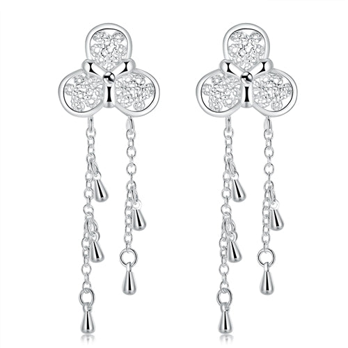 18K White-Gold plated Katie Earrings - Romatco Jewelry