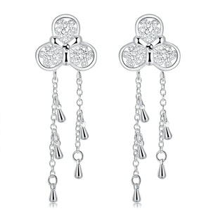 18K White-Gold plated Katie Earrings-Romatco