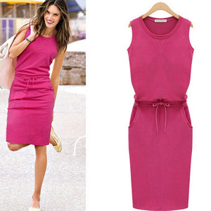 Jamie Slim Dress In a Choice of Colours