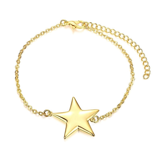 22K Gold plated Star Bracelet-Romatco