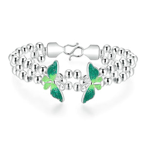 18K White-Gold Plated Nature Bracelet-Romatco
