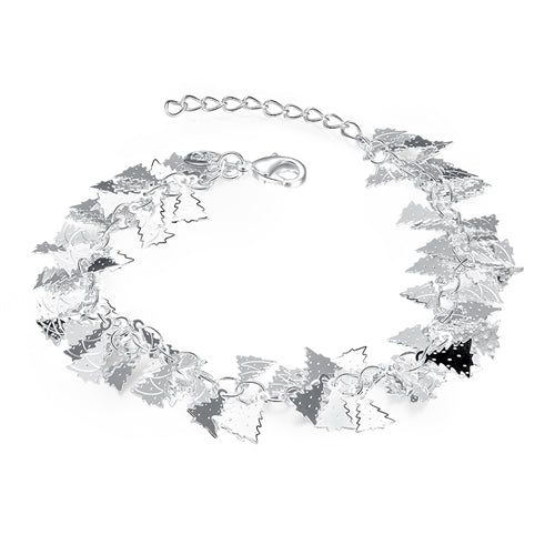 18K White-Gold Plated Tree Bracelet - Romatco Jewelry