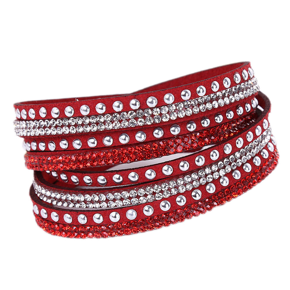 Tiyana Multi Layer Bracelet Red-Romatco