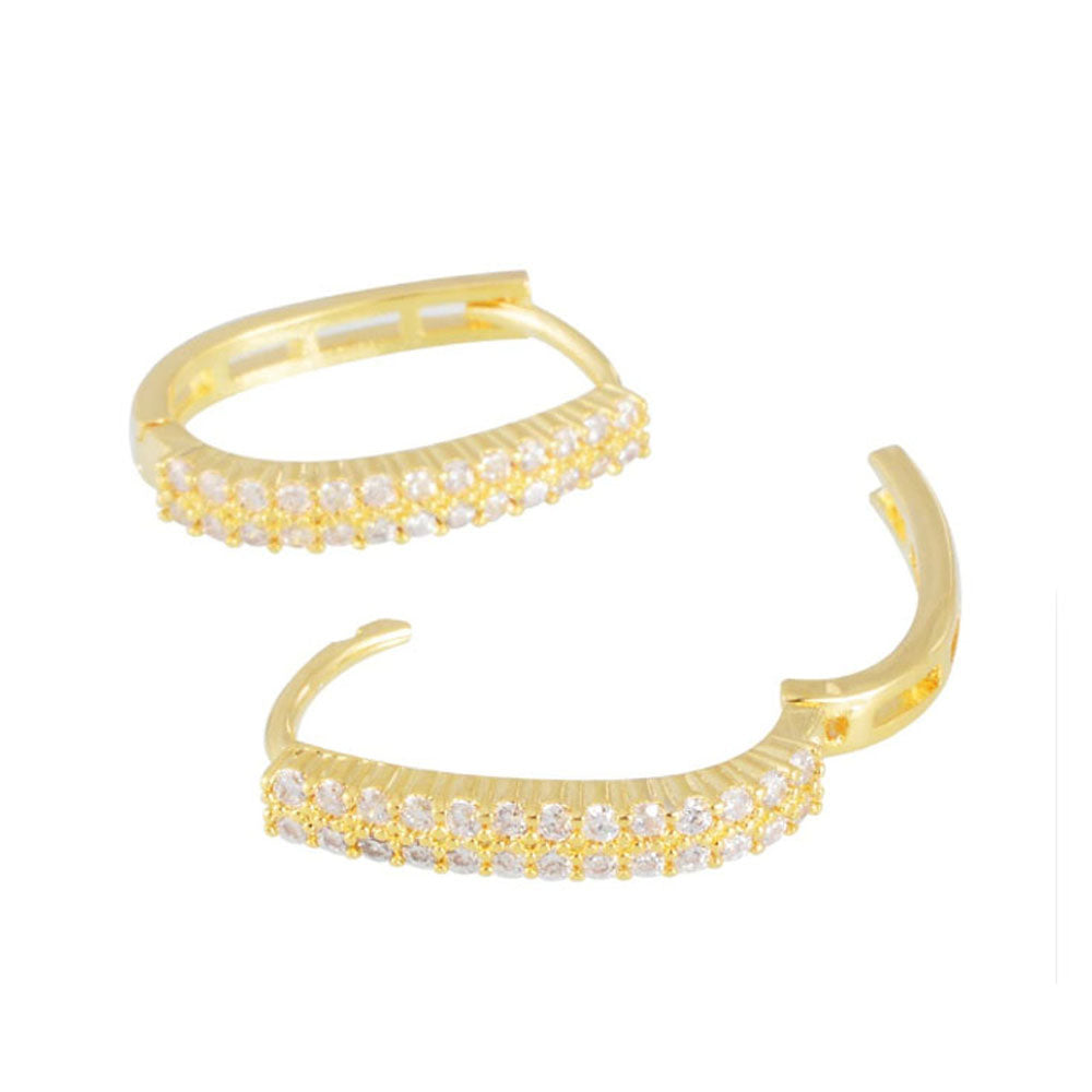 22K Gold plated Bliss Gold Hoop Earrings