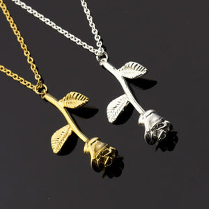 Rose Charm Necklace-Romatco