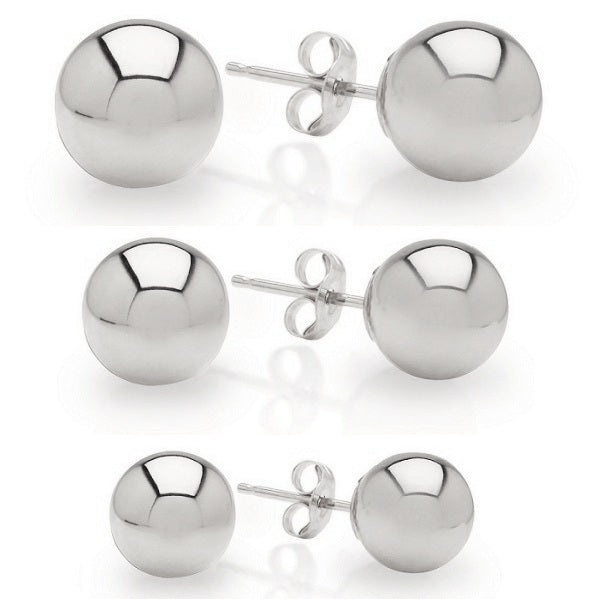 Ball Stud Earrings (Pack of 3 pairs)-Romatco