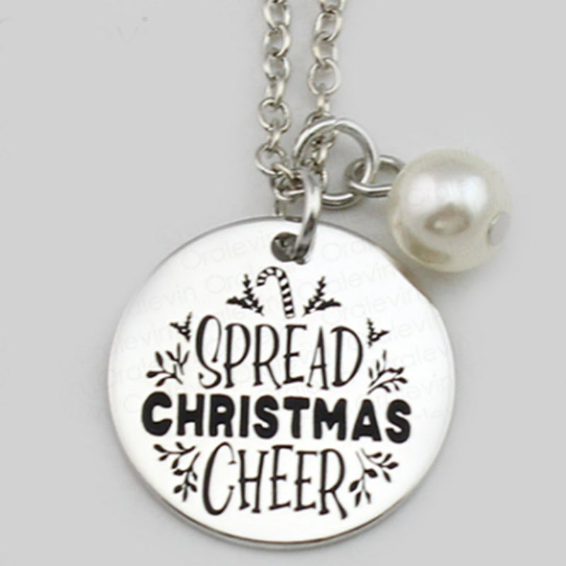 Spread Christmas Cheer Necklace-Romatco