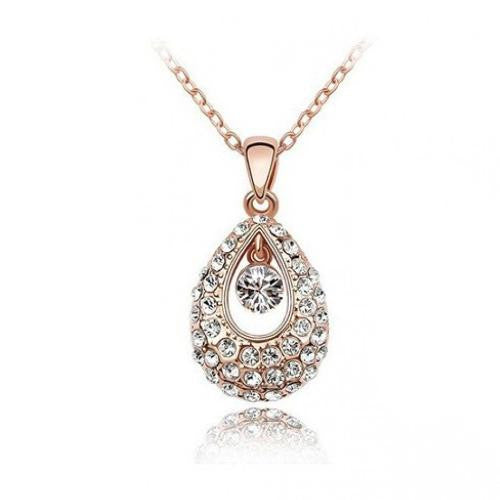 14K Rose-Gold plated Nora Necklace-Rose Gold-Silver