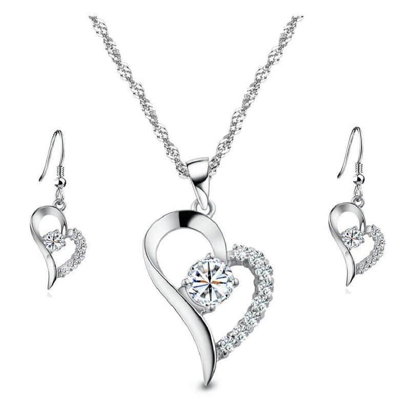 18K White-Gold Plated Victoria Set Jewelry Set romatco.myshopify.com