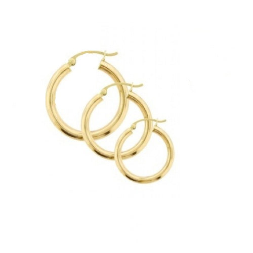 22K Gold Plated Tianna Classic Hoop Earrings