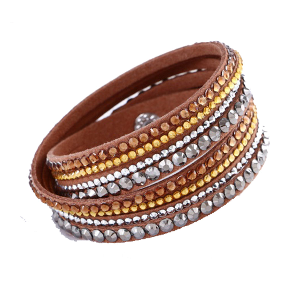 Tiyana Multi Layer Bracelet Brown-Romatco