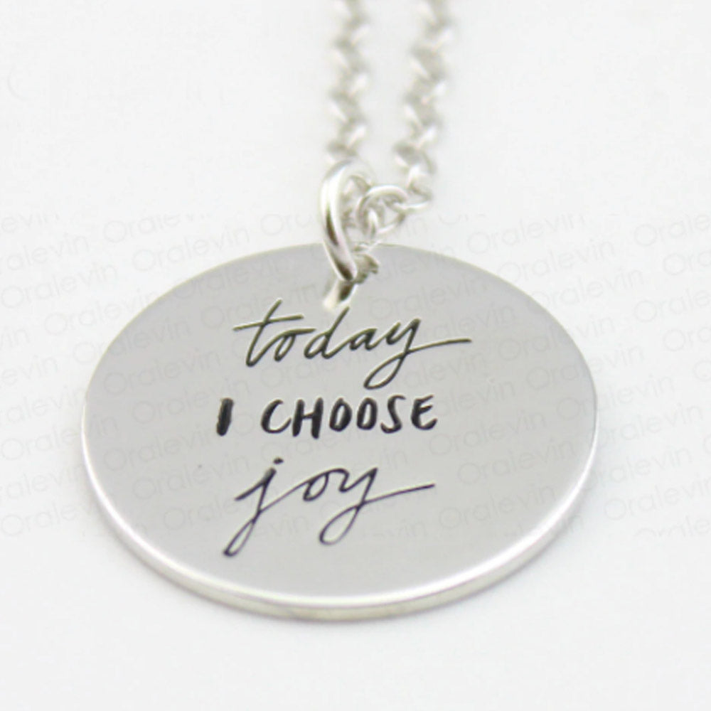 Today I Choose Joy Inspirational Necklace-Romatco