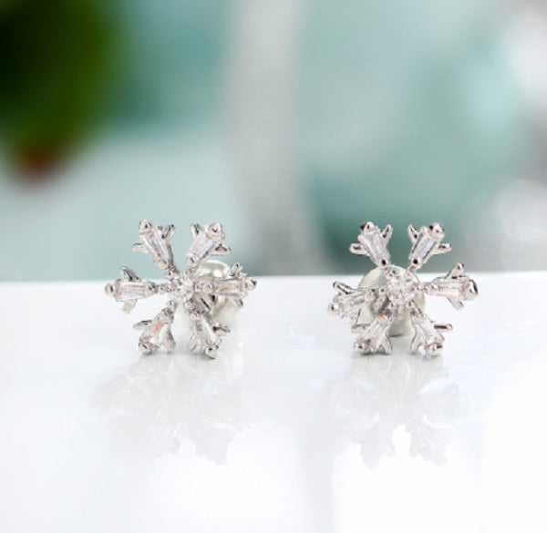 Snowflake Earrings-Romatco