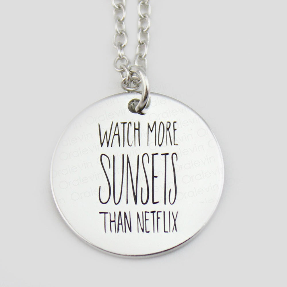 Watch More Sunsets then Netflix Necklace-Romatco