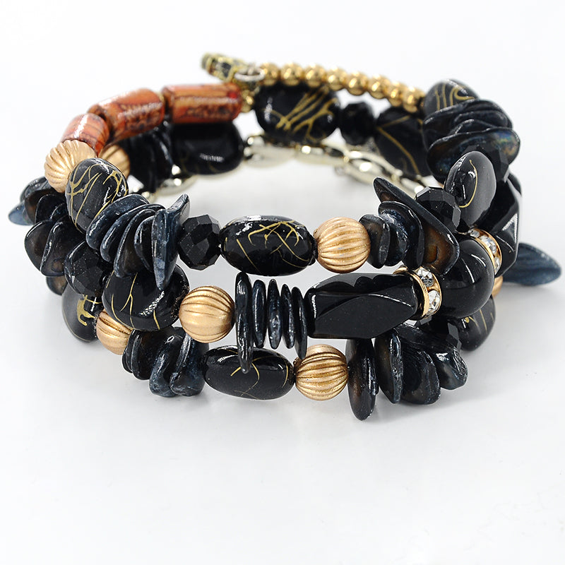 Multi-Colour Stones Wrap Bracelet-Romatco