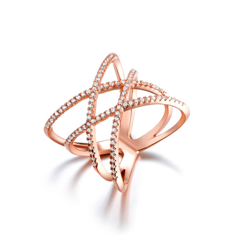 Criss-Cross Rings-Romatco