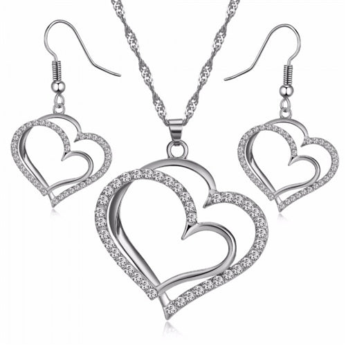 Genny Heart Set - Romatco Jewelry