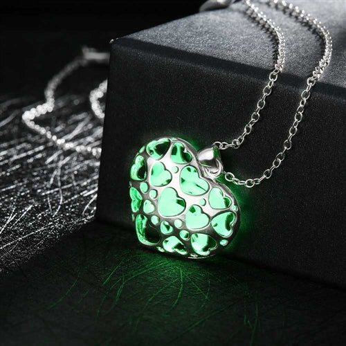 18K White-Gold Plated Joline Glow in the Dark Necklace