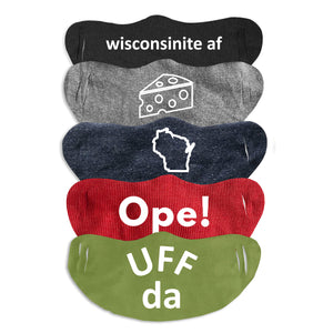 Wisconsin Face Masks - 3 for $11