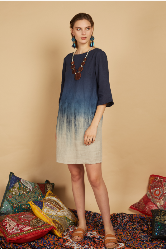 Keziah Ombre Linen Dress