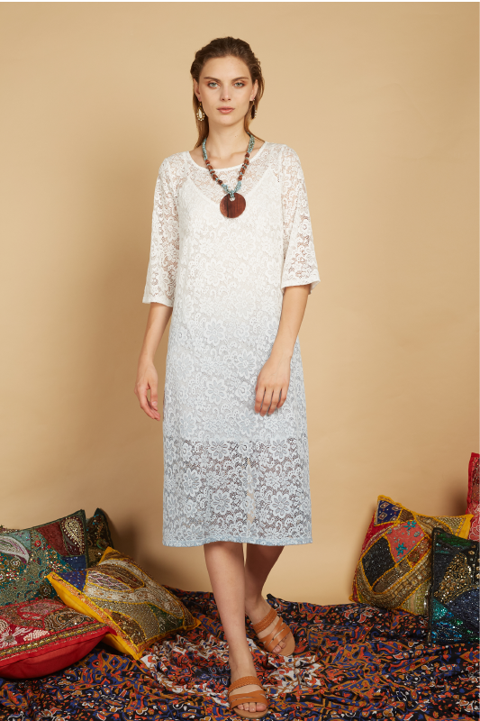 Lya Ombre Lace Midi Dress