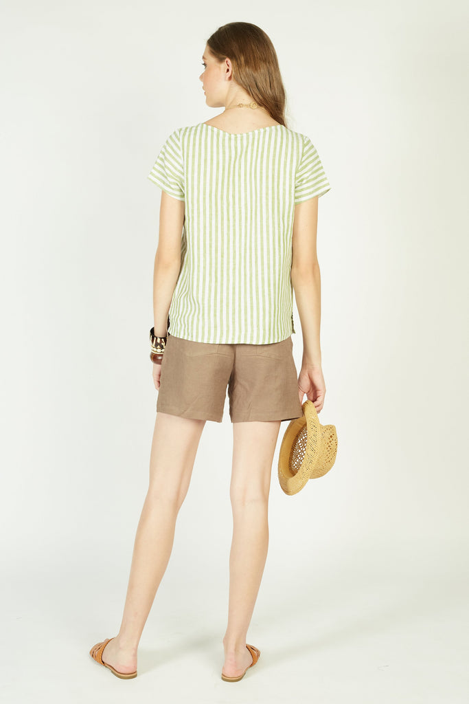 Mules Pleated Shorts