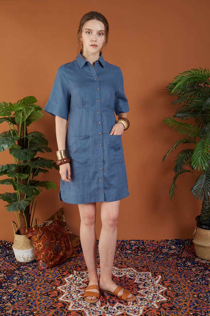 Esperanza 3/4 Sleeve Shirt Dress