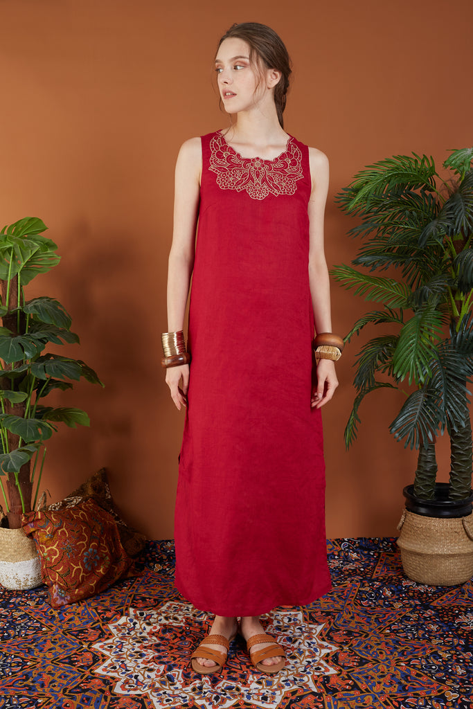 Madeleine Embroided Maxi Dress
