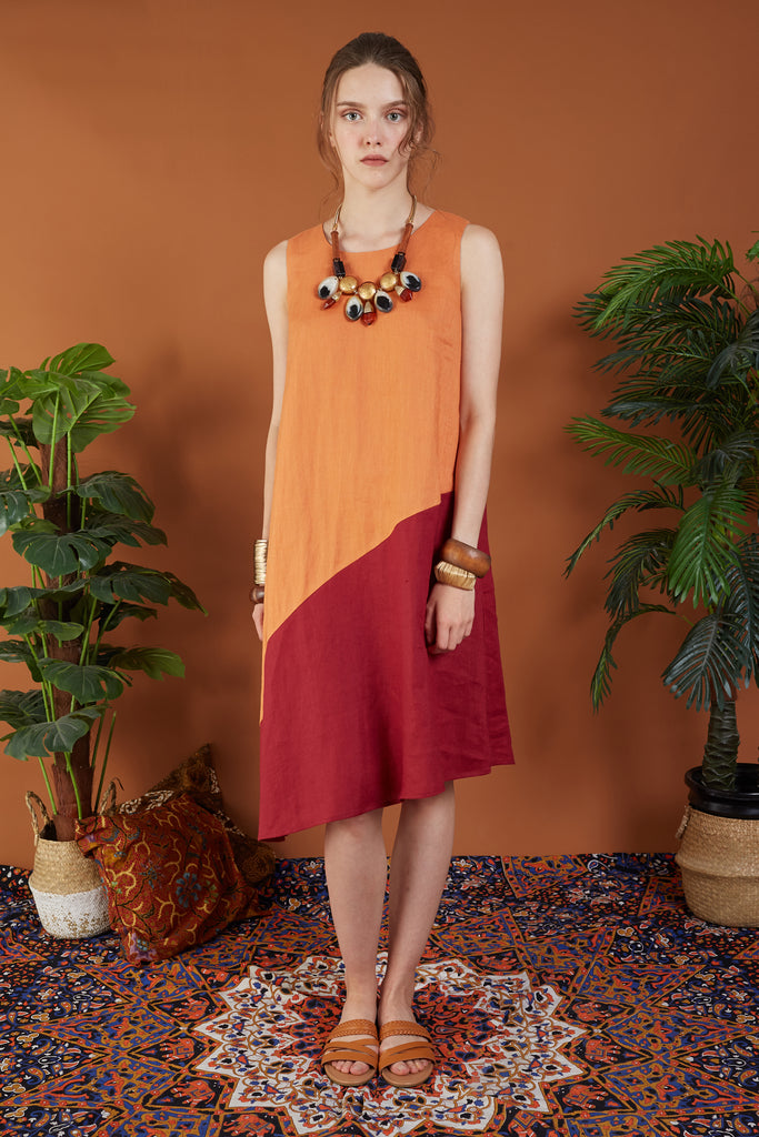 Corazon Colour Block Midi Dress