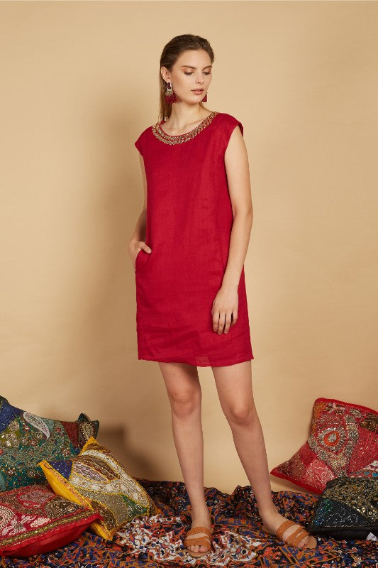 Eili Embellished Shift Dress