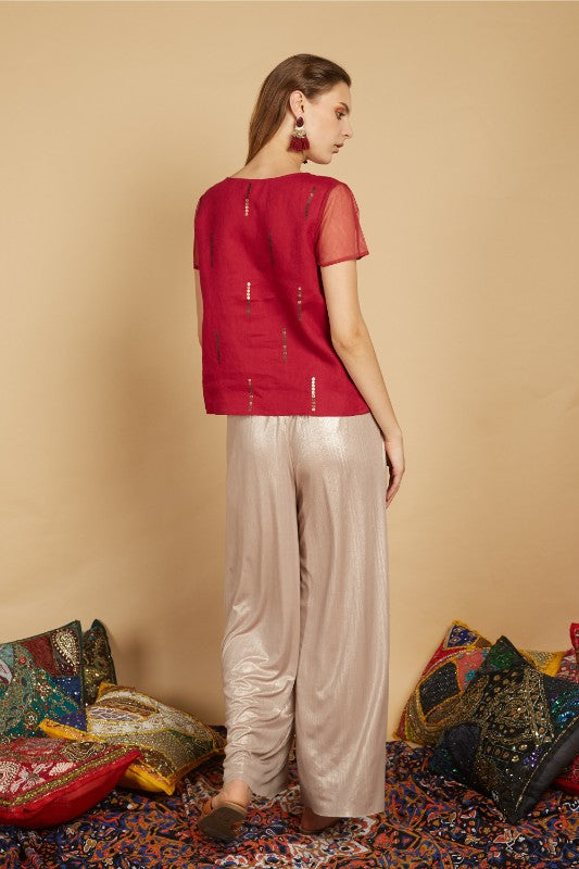 Garriel Metallic Flare Pants