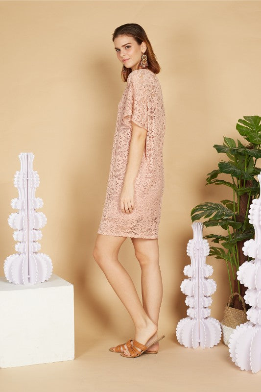 Alyssa Batwing Lace Dress