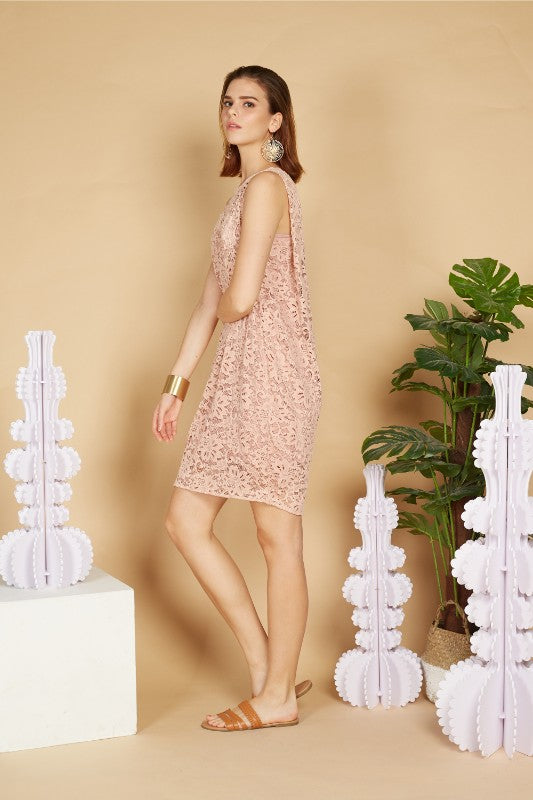 Ava Sleeveless Lace Dress