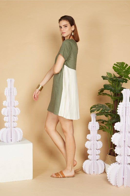 Alexis Back Pleated Dress