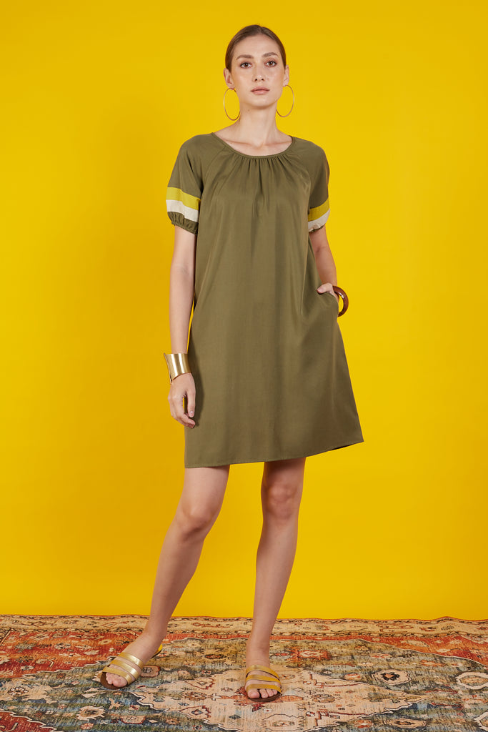 Chrystha Puff Sleeve Short Dress