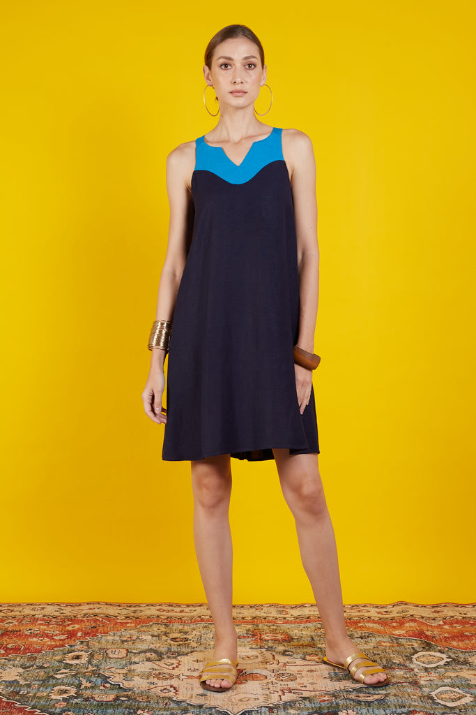 Diana Color Block Short Dress