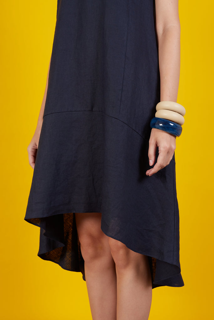 Rithleen Midi Hi Low Hem Dress