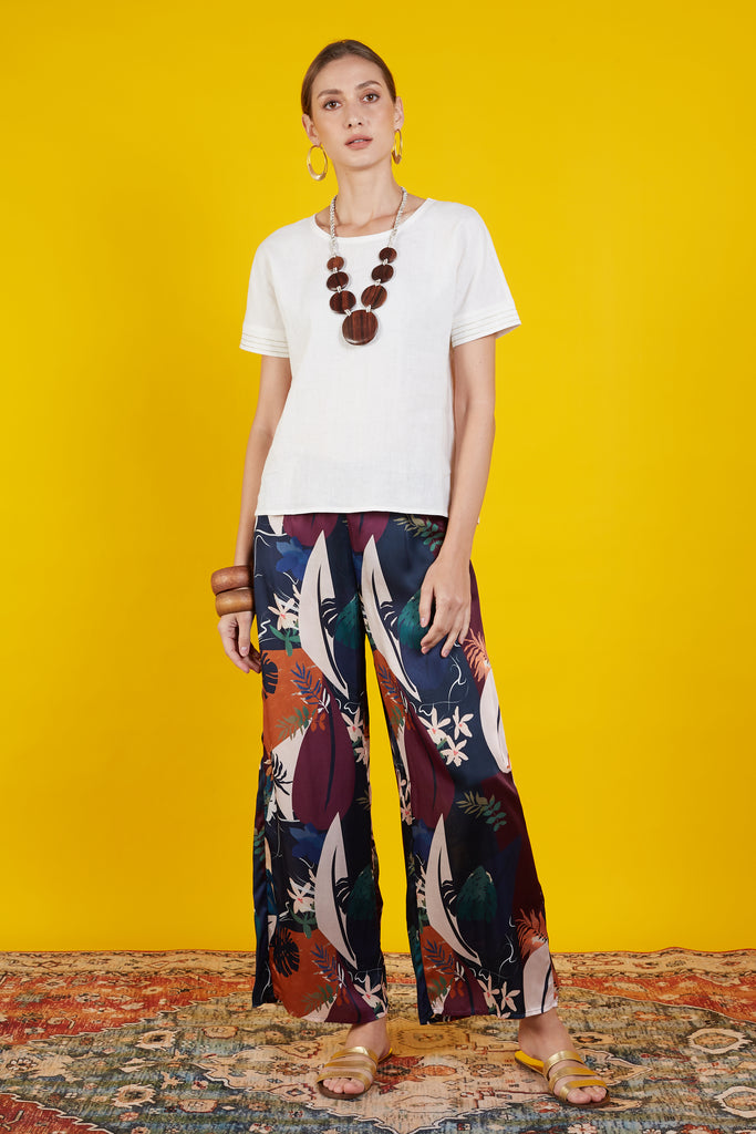 Lorena Printed  Long Pants