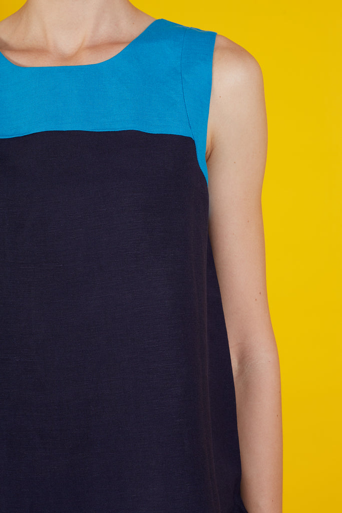 Diana Color Block Sleeveless Top