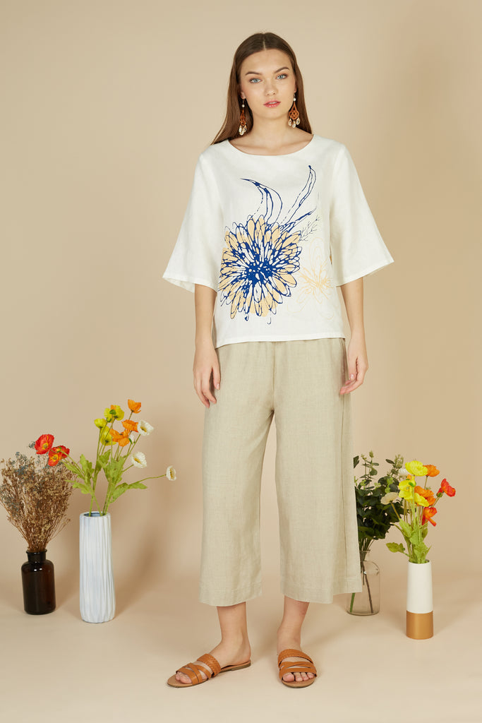 Mathis Linen Top